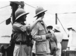 British General Edward Spears and French General Charles de Gaulle aboard Dutch ship Westernland en route to Dakar, French West Africa, Sep 1940