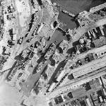 The port of Brest, France after British aerial bombardment, circa late Aug 1944
