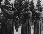 German prisoners taken during the Battle of the Bulge, circa late Dec 1944