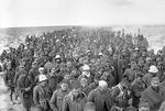A column of Italian prisoners captured during the assault on Bardia, Libya, 6 Jan 1941