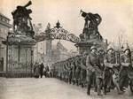 German troops marching on Prague Castle grounds, Prague, Czechoslovakia, 16 Mar 1939, photo 2 of 2