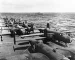 B-25 Mitchell bombers aboard USS Hornet, Apr 1942, photo 9 of 9