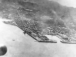 Aerial view of the naval base at Yokosuka, Japan, 18 Apr 1942, photo 1 of 2; photo taken by one of the Doolittle raiders