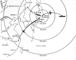 US Air Force map showing Doolittle Raid targets and planned landing fields, 2 of 2