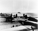 B-25 Mitchell bombers aboard USS Hornet, Apr 1942, photo 8 of 9