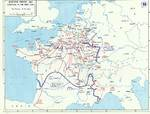 Map detailing the German and Italian advances in France, 13-25 Jun 1940