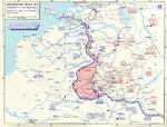 Map noting German advances in France and the Low Countries between 10 and 16 May 1940