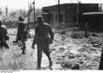 German soldiers near an abandoned bunker in Merzig, France, 15 May 1940