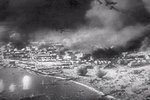 German Stuka dive bombers attacking Allied attempt to evacuate Dunkerque, France, Jun 1940; still from Frank Capra