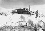 Captured Japanese 8-in gun emplacement, which was previously captured from the British at Singapore; Betio, Tarawa Atoll, 20 Nov 1943; photo 2 of 2