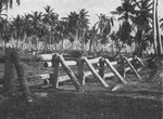 Japanese anti-tank barricade on Makin, Gilbert Islands; seen in US Army publication TM E 30-480