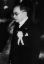 José Laurel speaking at the Greater East Asia Conference, Tokyo, Japan, 5 Nov 1943