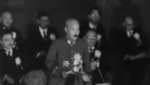 Hideki Tojo speaking at the Greater East Asia Conference, Tokyo, Japan, 5 Nov 1943, photo 1 of 2