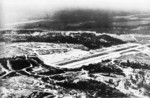 Henderson Airfield seen from the air, Guadalcanal, Solomon Islands, Aug 1944