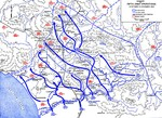 Map showing US 5th Army advances in Italy, 12 Oct-15 Nov 1943