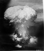 Mushroom cloud over Nagasaki, Japan, 9 Aug 1945, photo 3 of 9