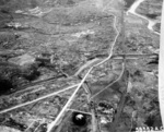 Aerial photo of Nagasaki, Japan after atomic bombing, mid-Aug 1945
