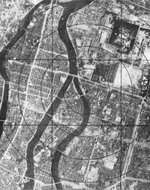 Aerial photo of Hiroshima, Japan shortly prior to the atomic bombing, Jul-Aug 1945, photo 1 of 2