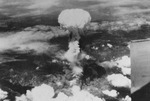 Mushroom cloud over Nagasaki, Japan, 9 Aug 1945, photo 7 of 9