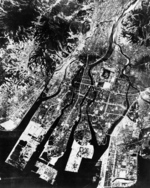 Aerial photo of Hiroshima, Japan shortly prior to the atomic bombing, Jul-Aug 1945, photo 2 of 2