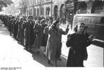 Jewish women being rounded up on Wesselényi Street, Budapest, Hungary, 22 Oct 1944