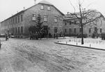 A Christmas tree standing in front of Block 15 in Auschwitz I Concentration Camp, date unknown