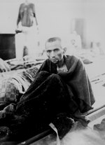 Starving inmate of Camp Gusen, Austria, 12 May 1945