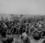 Pfc Mickey Rooney entertained fellow soldiers in the US 44th Division, Kist, Germany, 13 Apr 1945