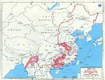 Map of the Japanese Operation Ichigo offensive in China, Apr-Dec 1944