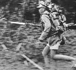 Chinese soldier fighting in Burma, circa 1942