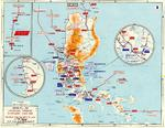 Map depicting the Japanese advance in Luzon, Philippine Islands, 10 Dec 1941-6 May 1942