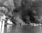 Fires at Cavite Navy Yard, Philippine Islands, resulting from the 10 Dec 1941 Japanese air raid