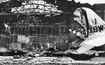 Hangar No. 11 of Hickam Field, Oahu, Hawaii, United States in ruins after Japanese attack, 7 Dec 1941