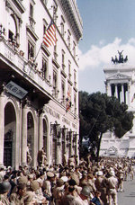 American troops in Rome, circa Jun 1944; note the