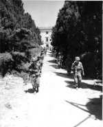 US Army Japanese-American troops on the move in Castellina Sector at Livorno, Italy, 15 Jul 1944