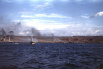A LCS(L) off the eastern Iwo Jima landing beaches, 19 Feb 1945