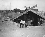 Post office of the US 4th Marine Division, Iwo Jima, 1945