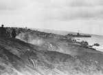 Beach scene on Iwo Jima about two or three days after the 19 Feb 1945 landings