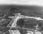 Aerial view looking southward over Iwo Jima