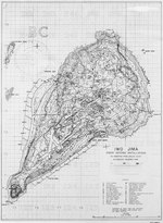 Contour map of Iwo Jima, showing Japanese defense installations as observed from ground study during the period of 19 Feb-19 Mar 1945, map 1 of 2
