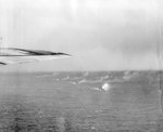 Battleship Indiana and Cruiser Division 5 bombarded Iwo Jima, 23 Jan 1945, photo 1 of 2