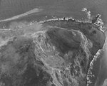 Aerial view of Mount Suribachi, 20 Feb 1945