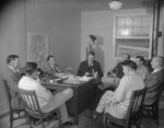 Paul Taylor and the rest of the Jerome War Relocation Center administration, Arkansas, United States, 18 Nov 1942, photo 2 of 2
