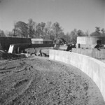 Construction of the sewage disposal plant at Jerome War Relocation Center, Arkansas, United States, 16 Nov 1942