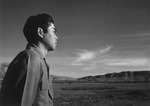 Japanese-American Tom Kobayashi at the south fields of Manzanar Relocation Center, California, United States, 1943