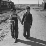 Japanese-American children at Jerome War Relocation Center, Arkansas, United States, 18 Jan 1944