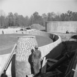 Construction of the sewage disposal plant at Jerome War Relocation Center, Arkansas, United States, 14 Nov 1942, photo 3 of 5