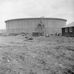 Construction of the water storage tank at Jerome War Relocation Center, Arkansas, United States, 16 Nov 1942