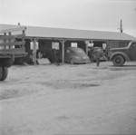 Motor and truck shop, Jerome War Relocation Center, Arkansas, United States, 16 Nov 1942
