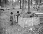 Japanese-American children playing at Jerome War Relocation Center, Arkansas, United States, 20 Nov 1942